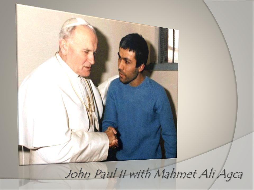 John Paul II with Mahmet Ali Agca