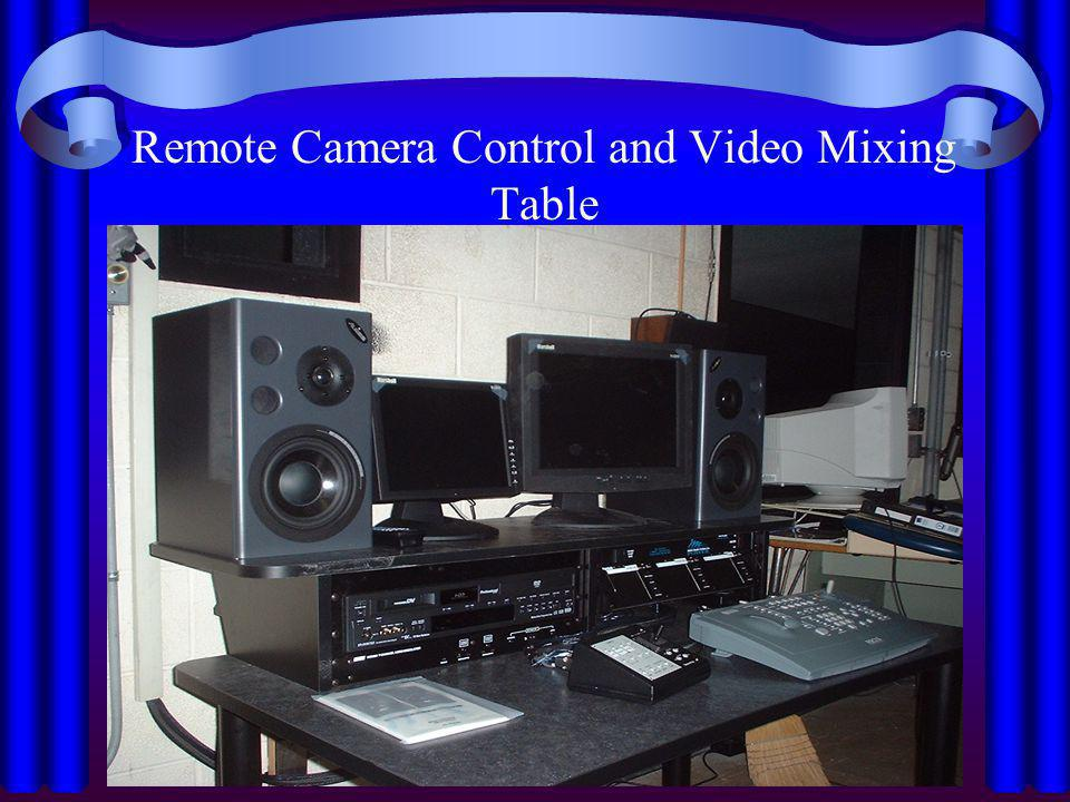 Remote Camera Control and Video Mixing Table