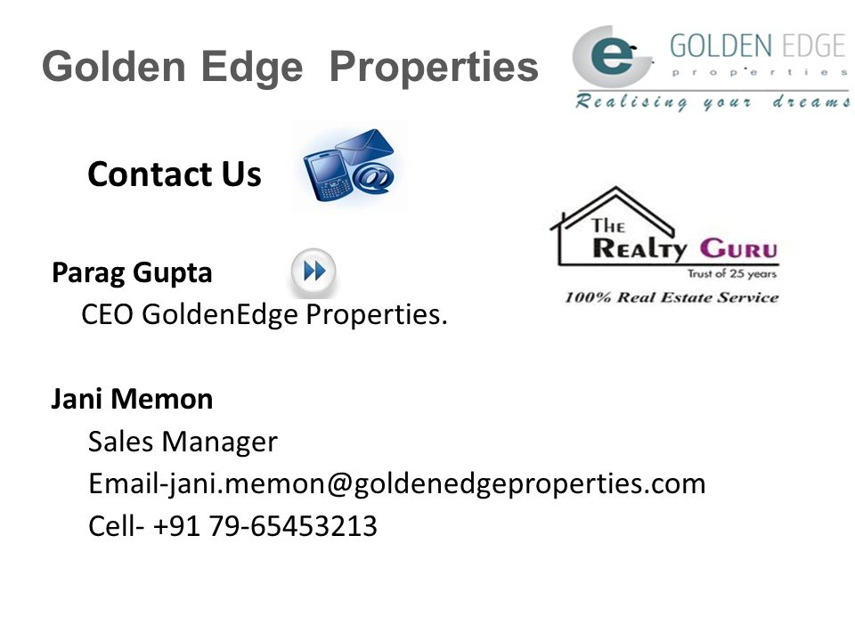 Golden Edge Properties Contact Us Parag Gupta CEO GoldenEdge Properties.