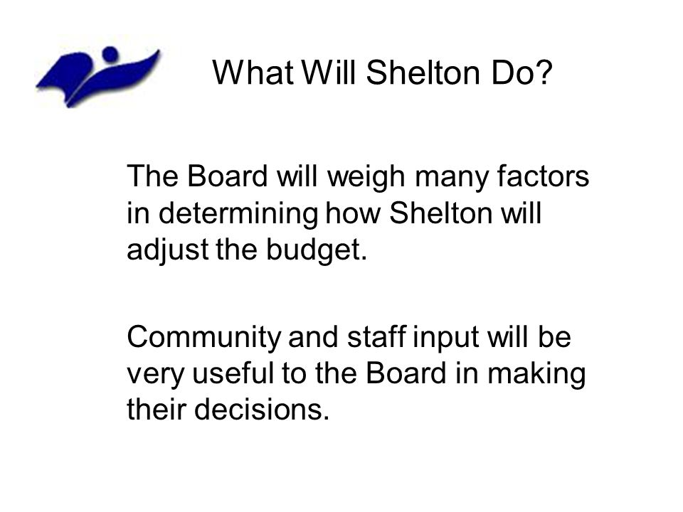 What Will Shelton Do.