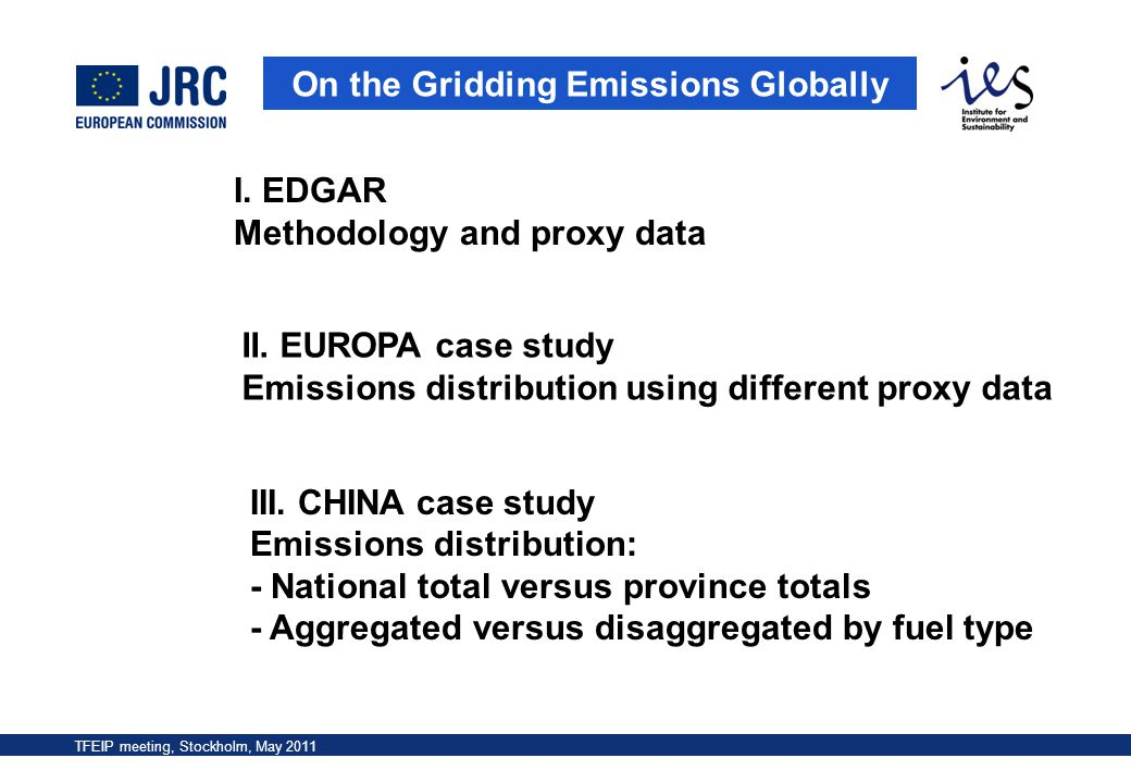 TFEIP meeting, Stockholm, May 2011 On the Gridding Emissions Globally III. CHINA case study Emissions distribution: - National total versus province t