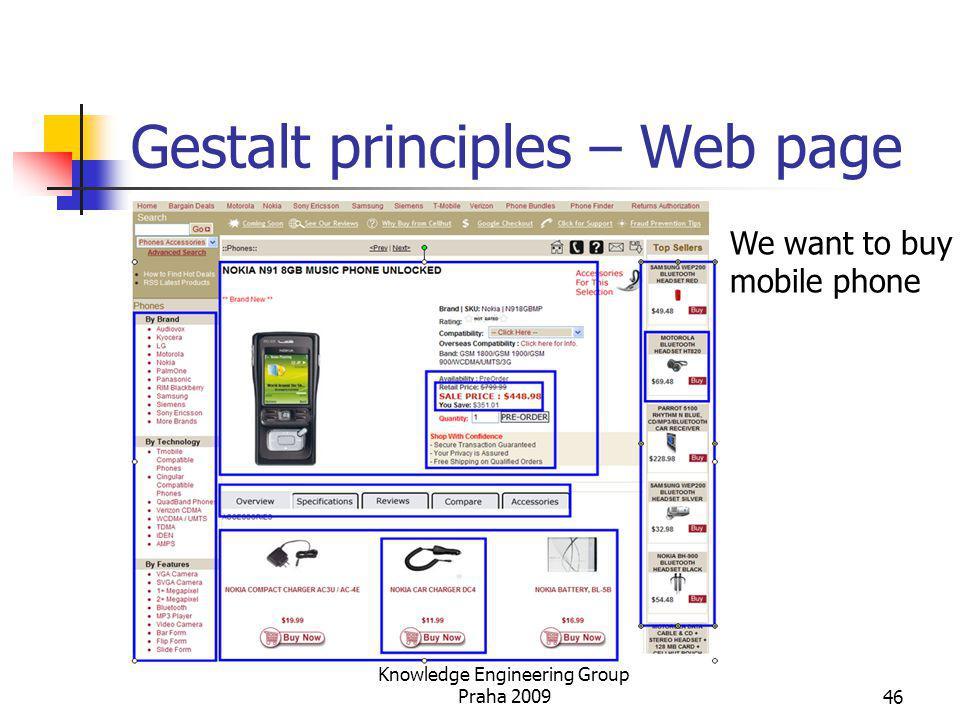 Gestalt principles – Web page We want to buy mobile phone Knowledge Engineering Group Praha 200946