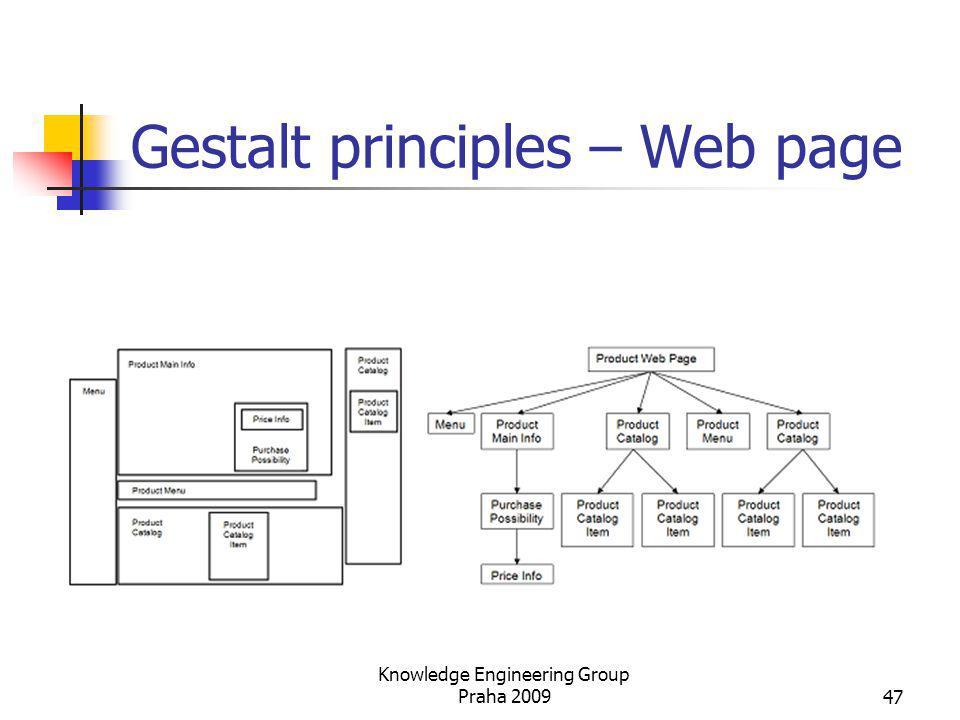 Gestalt principles – Web page Knowledge Engineering Group Praha 200947