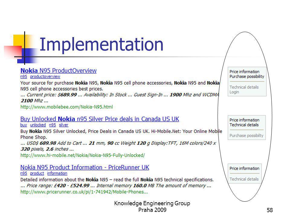 Implementation Knowledge Engineering Group Praha 200958