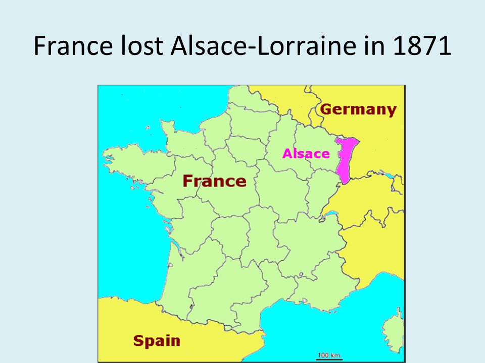 France lost Alsace-Lorraine in 1871