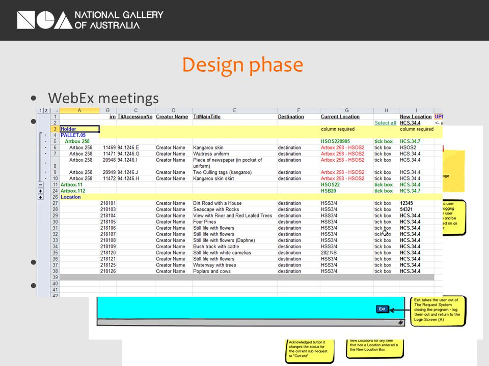 Development phase Overlap with Testing phase Required NGA IT environment (webserver) KE built according to the spec came to us with questions –JIRA Ticketing System Remote Server –KE hosted environment –More efficient for KE to apply fixes –Web interface testing only Wolfgang SIEVERS (1913 - 2007) Australia from 1938 Building No.