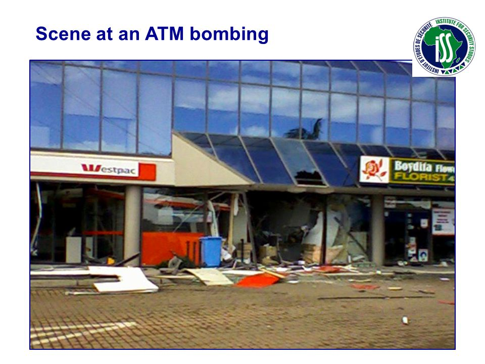 Scene at an ATM bombing