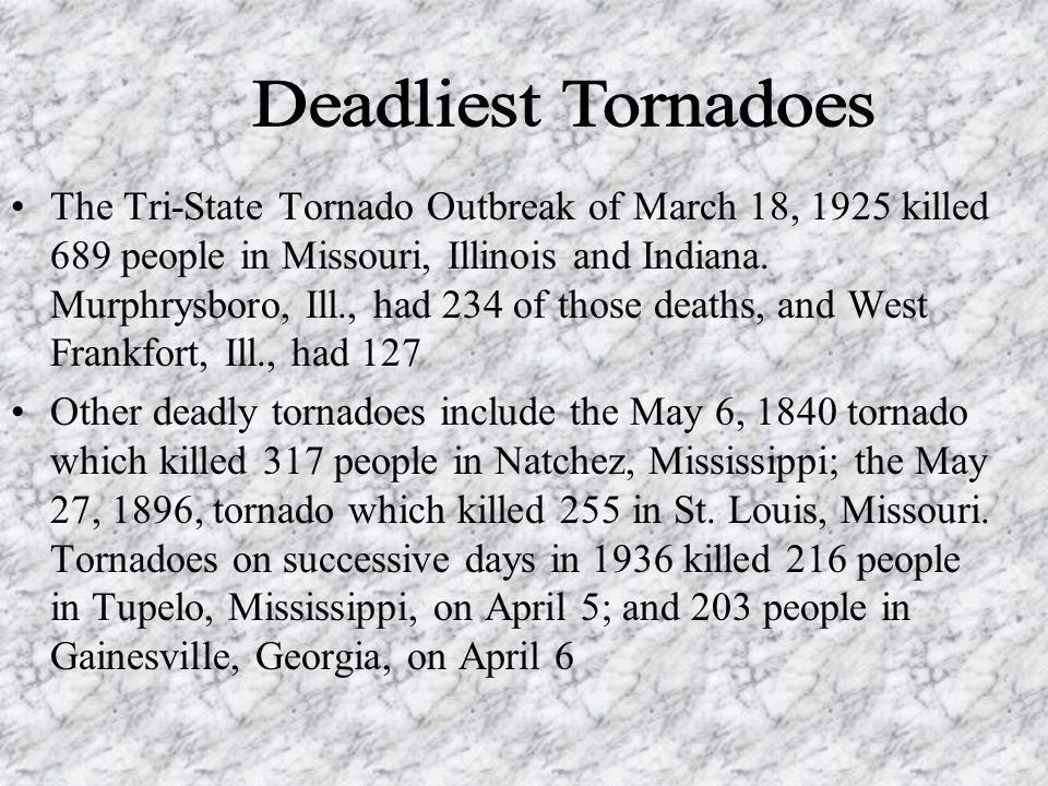 How Strong Are Tornadoes? EF0 = Weakest, EF5 = Strongest