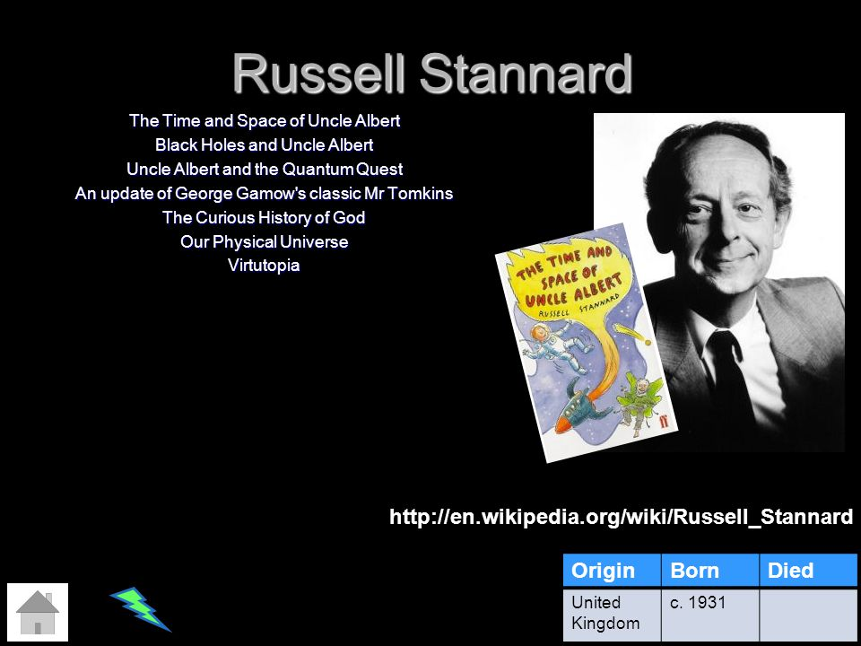 Russell Stannard The Time and Space of Uncle Albert Black Holes and Uncle Albert Uncle Albert and the Quantum Quest An update of George Gamow's classi
