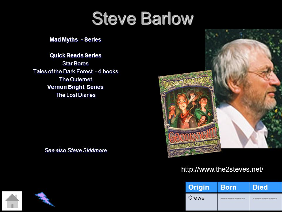 Steve Barlow Mad Myths - Series Quick Reads Series Star Bores Tales of the Dark Forest - 4 books The Outernet Vernon Bright Series The Lost Diaries Se