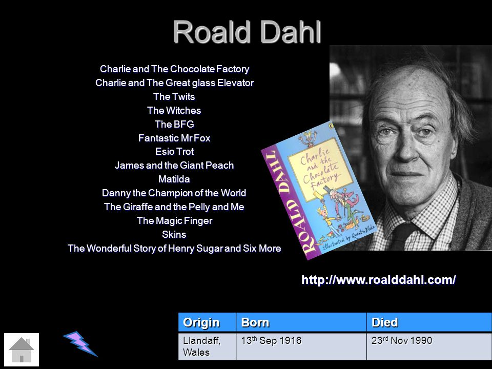 Roald Dahl Charlie and The Chocolate Factory Charlie and The Great glass Elevator The Twits The Witches The BFG Fantastic Mr Fox Esio Trot James and t