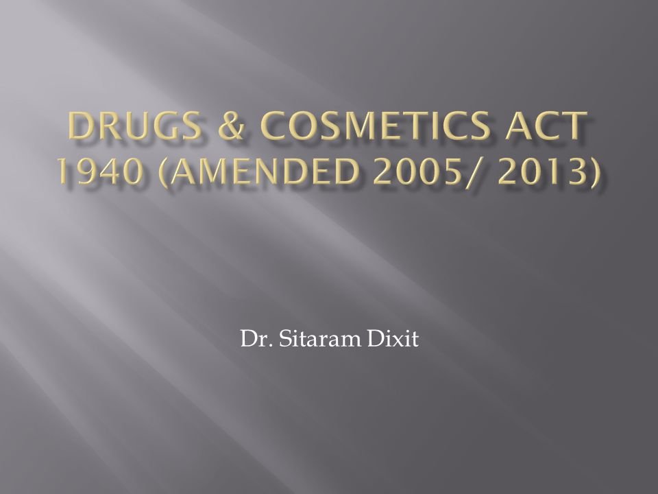 Dr. Sitaram Dixit