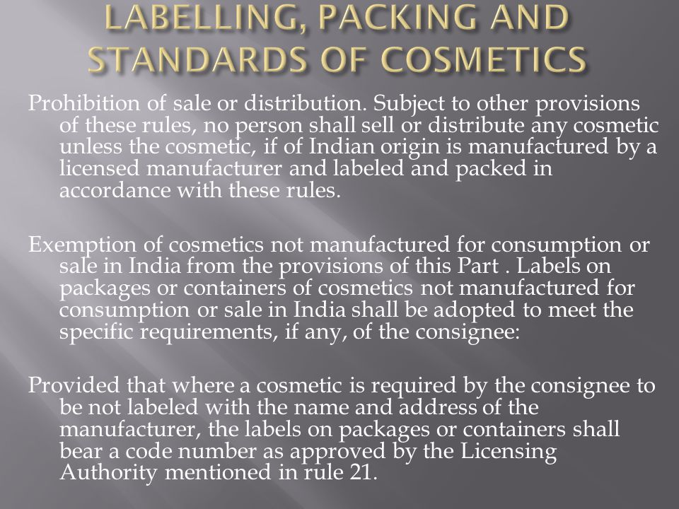 Prohibition of sale or distribution.