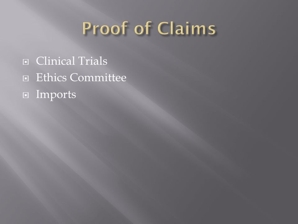Clinical Trials Ethics Committee Imports