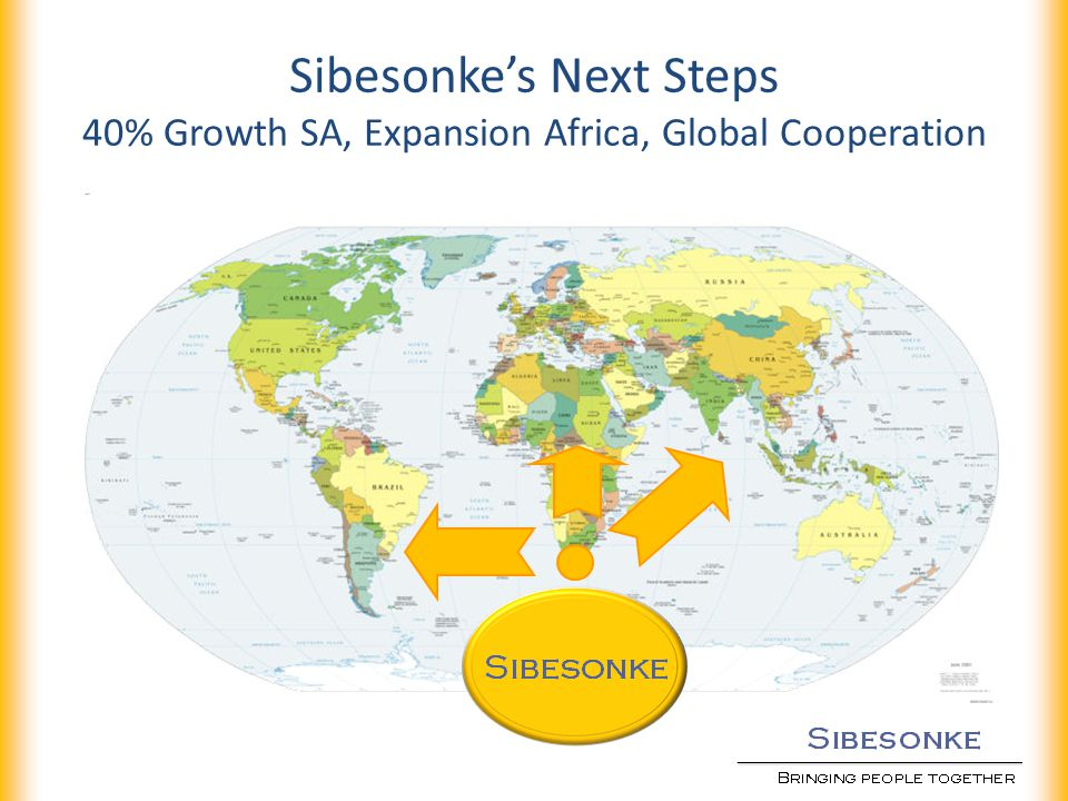 Sibesonkes Next Steps 40% Growth SA, Expansion Africa, Global Cooperation