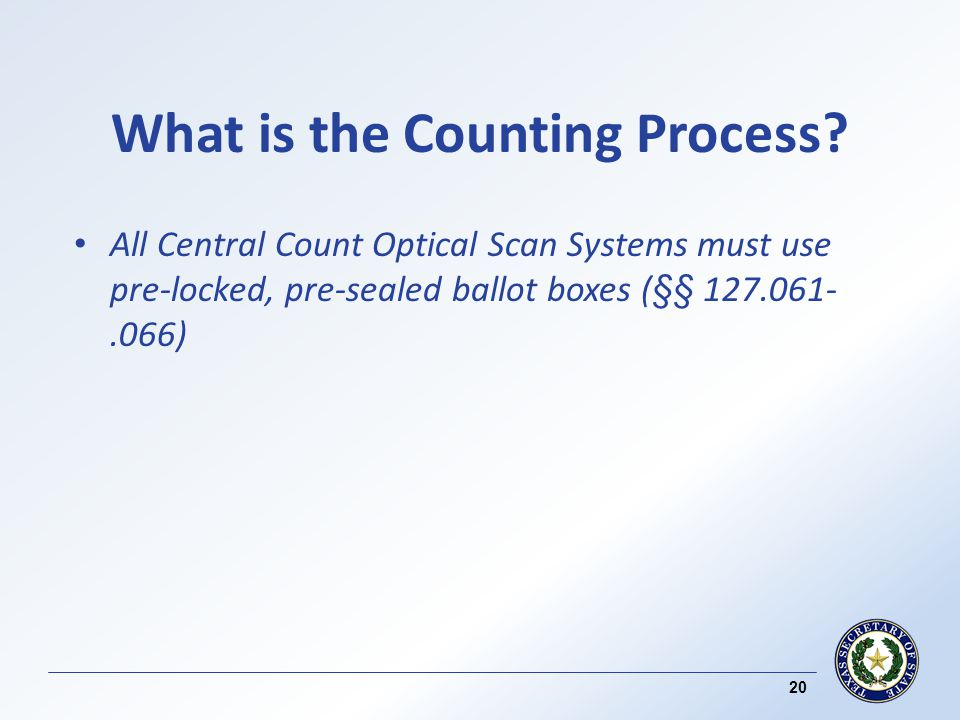 What is the Counting Process.