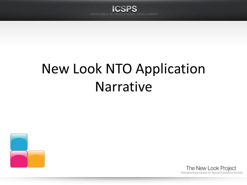 New Look NTO Application Narrative