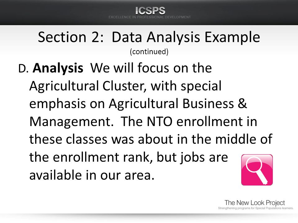 Section 2: Data Analysis Example (continued) D.