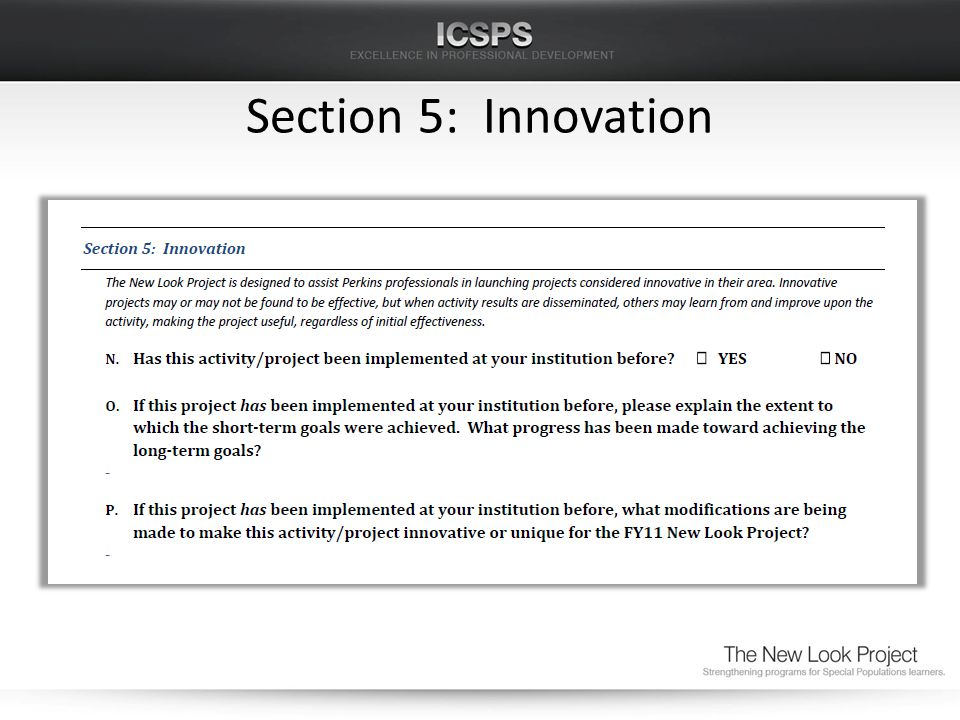 Section 5: Innovation