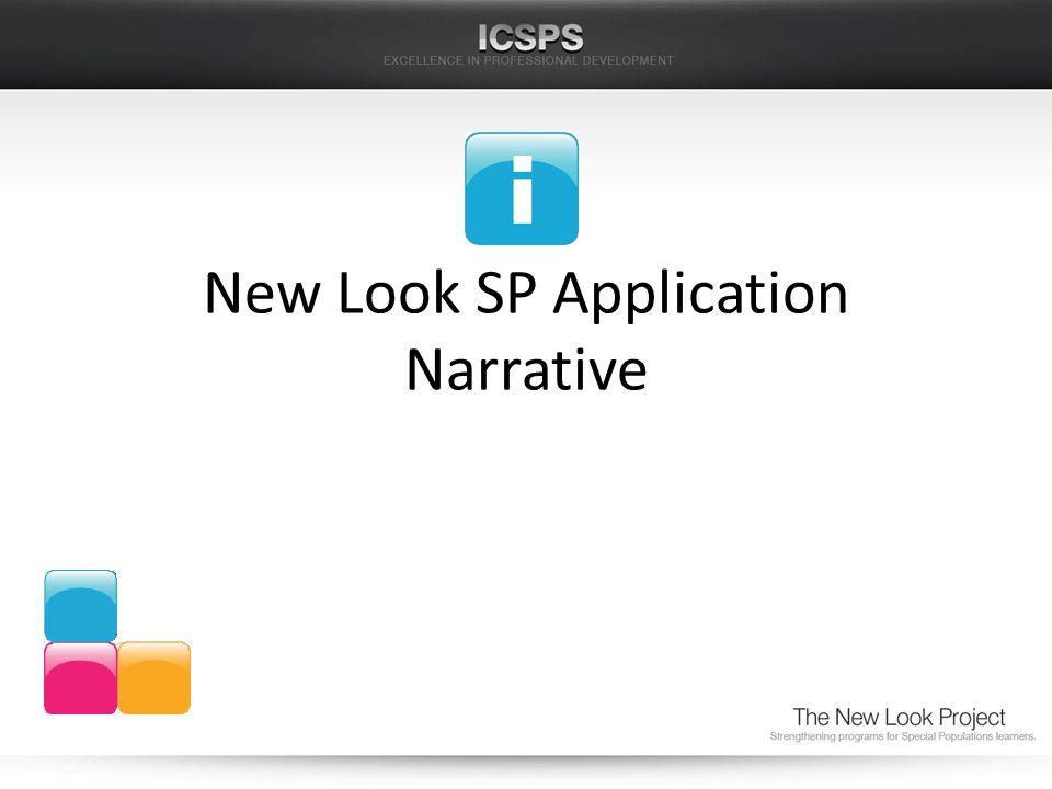 New Look SP Application Narrative