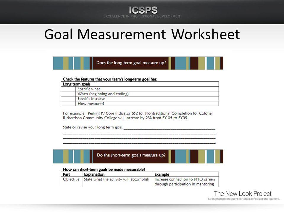 Goal Measurement Worksheet