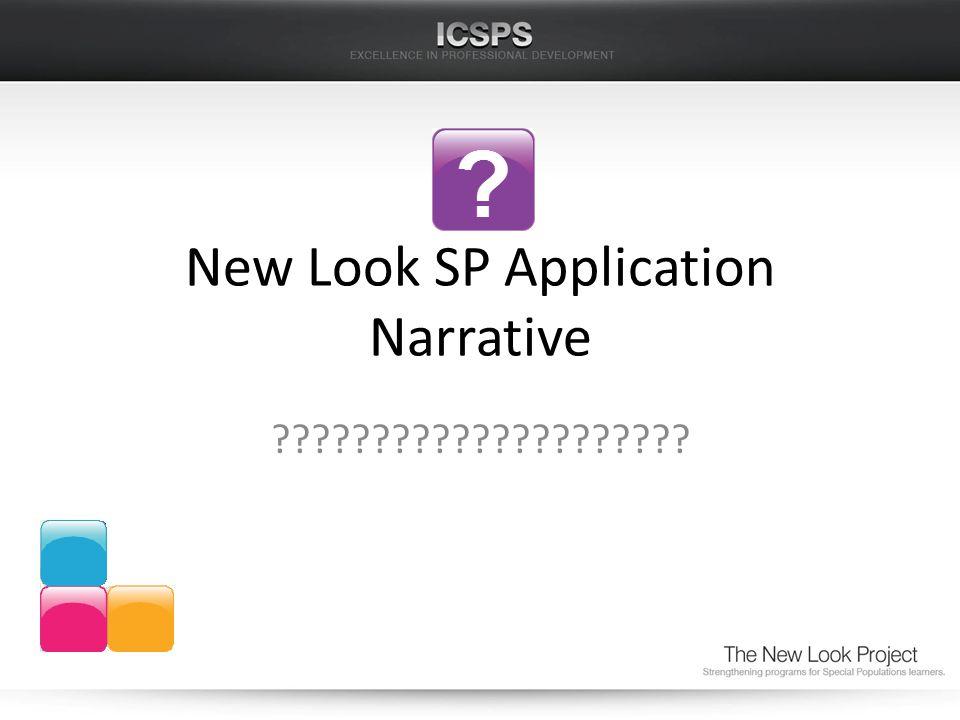New Look SP Application Narrative ?????????????????????