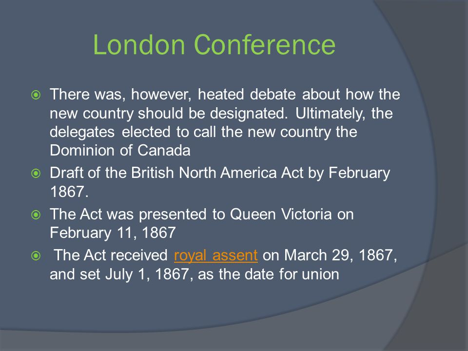 London Conference There was, however, heated debate about how the new country should be designated. Ultimately, the delegates elected to call the new