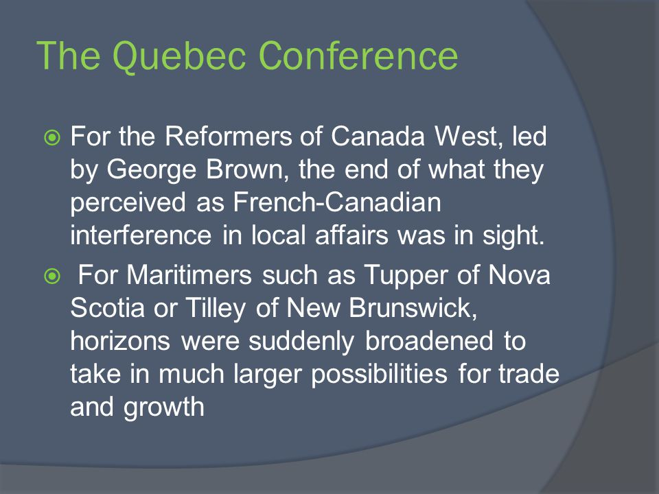 NFLD and Labrador They felt few ties with Canada and Confederation had little appeal.