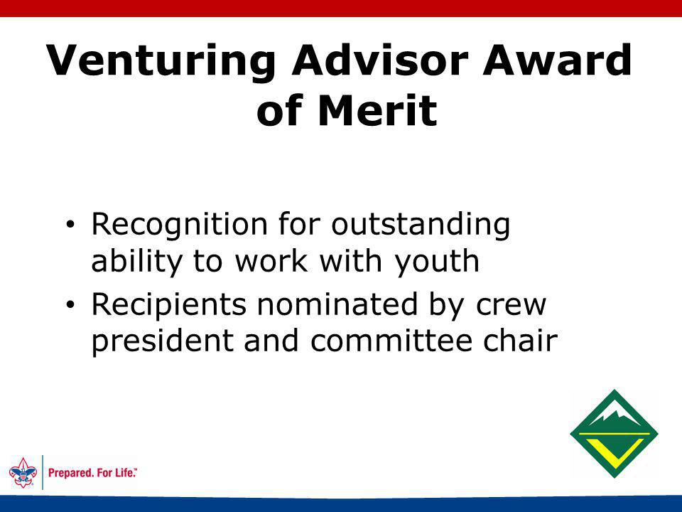 40 Conducting a Crew Review Required for Gold and Silver awards Give completed paperwork to Advisor Crew president (with Advisor) appoints review committee Determine the quality of the experience Send advancement report to council office