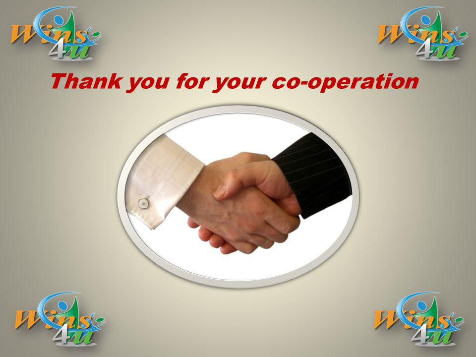 Thank you for your co-operation