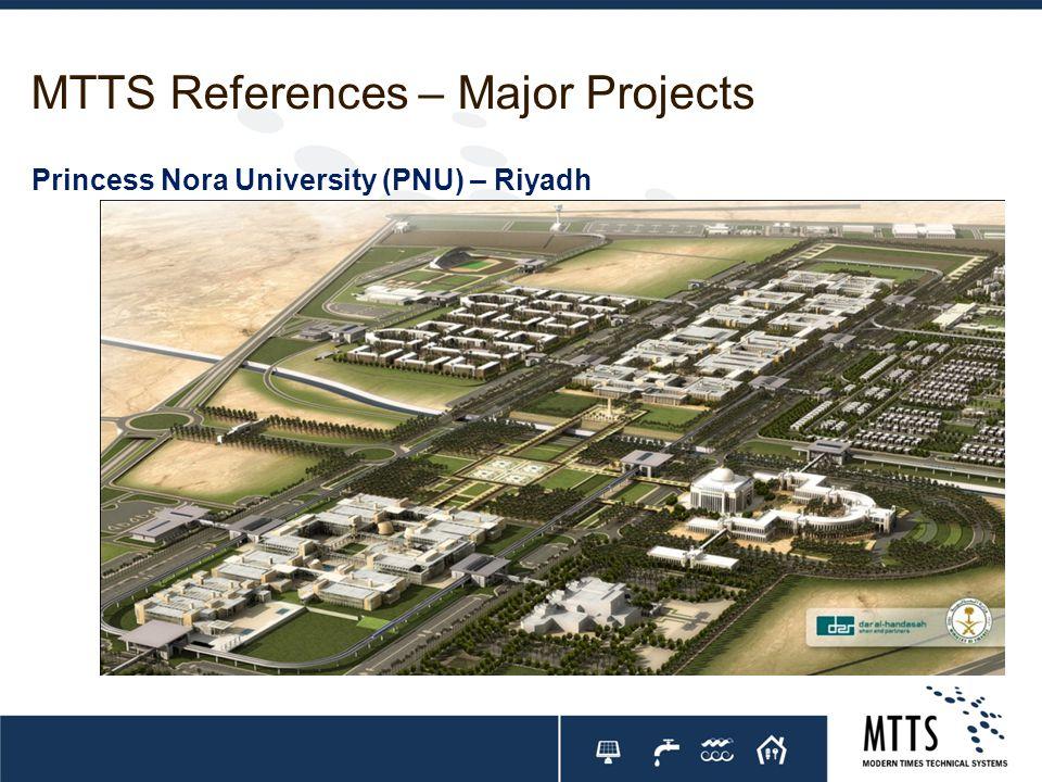 MTTS References – Major Projects Princess Nora University (PNU) – Riyadh