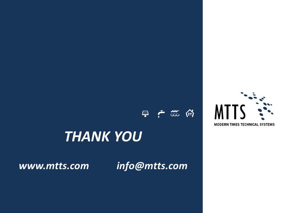 THANK YOU www.mtts.com info@mtts.com