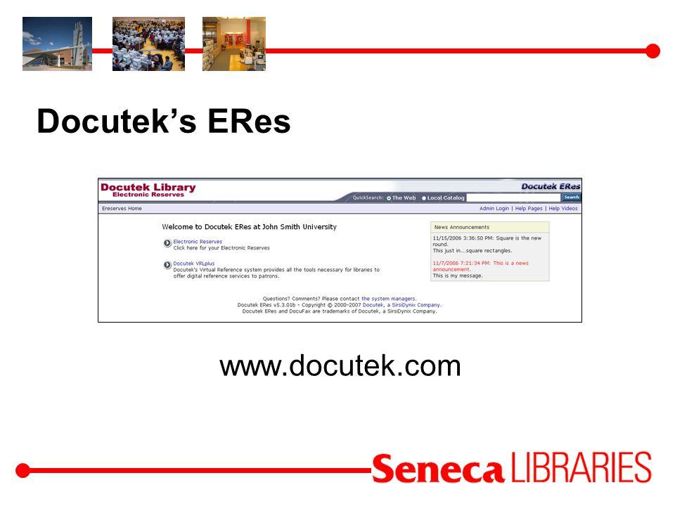 Docuteks ERes www.docutek.com