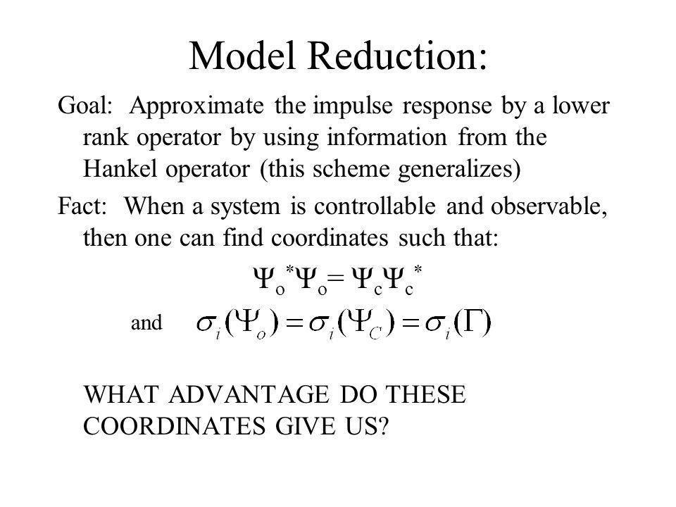 t t T Optimal kth order model