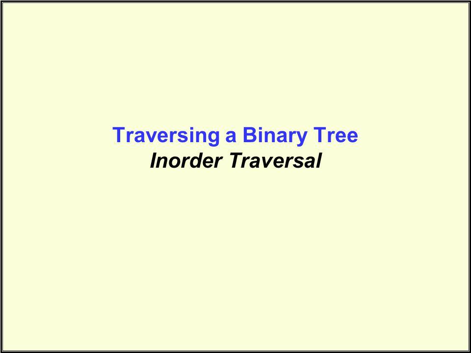 Traversing a Binary Tree Inorder Traversal