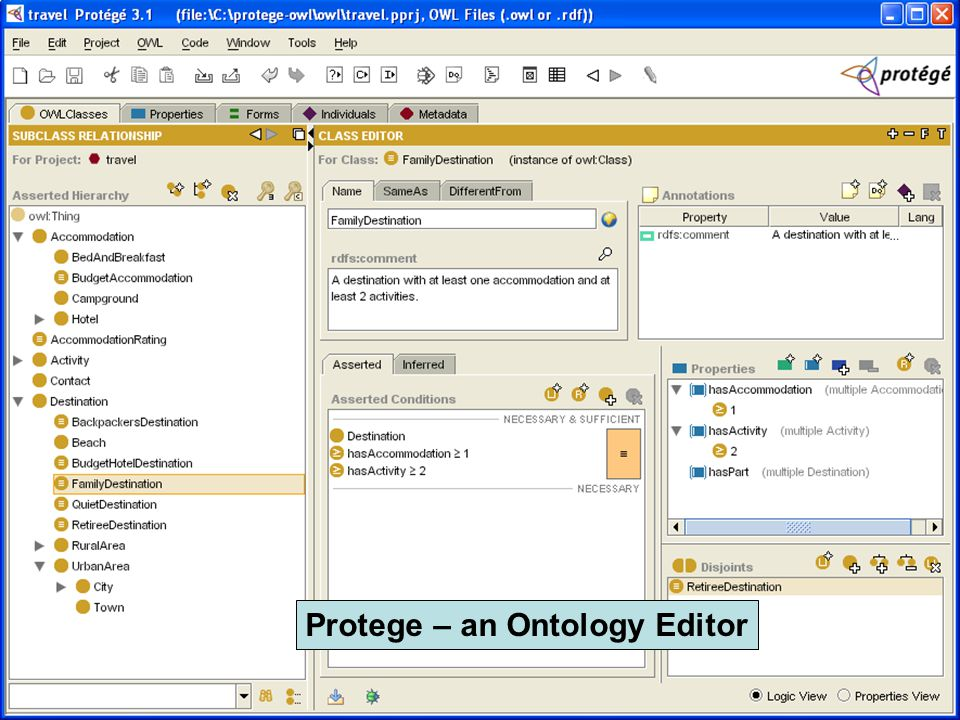 Protege – an Ontology Editor