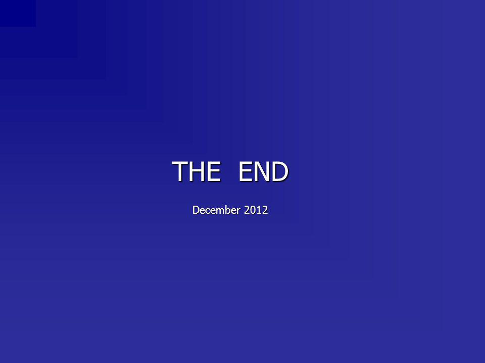 THE END December 2012