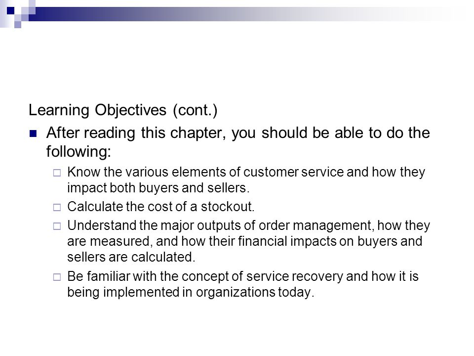 The Management of Business Logistics Chapter 8