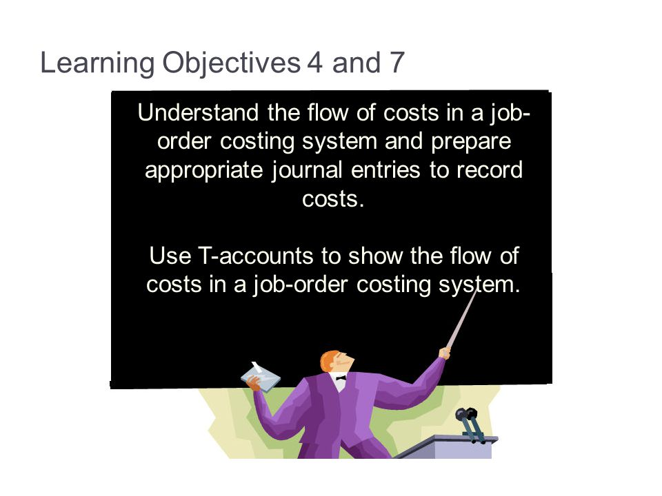 Learning Objectives 4 and 7 Understand the flow of costs in a job- order costing system and prepare appropriate journal entries to record costs. Use T