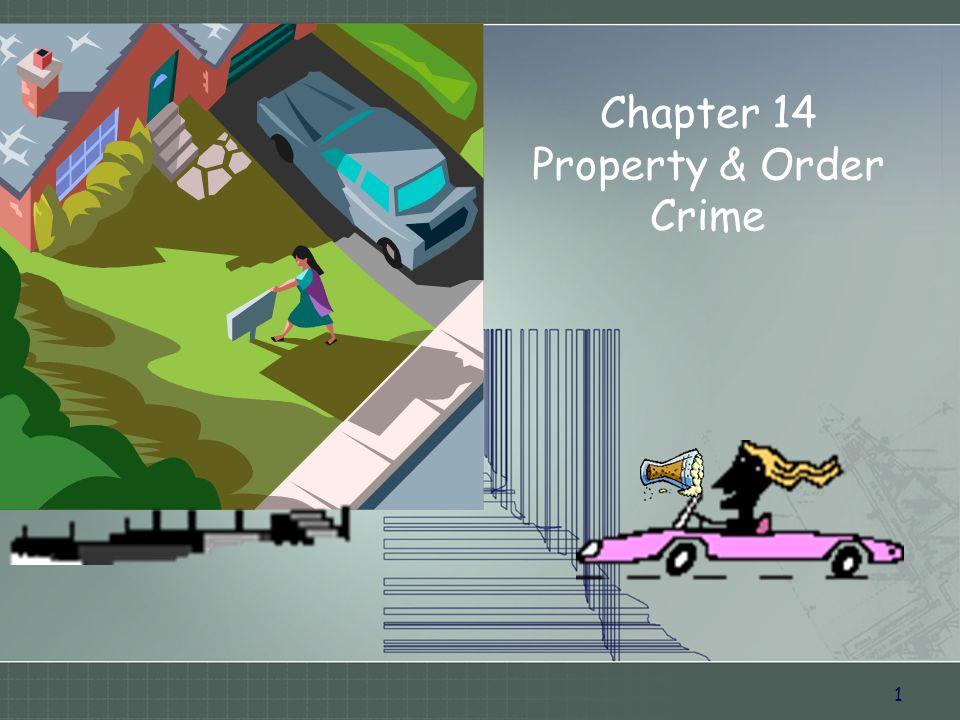 1 Chapter 14 Property & Order Crime