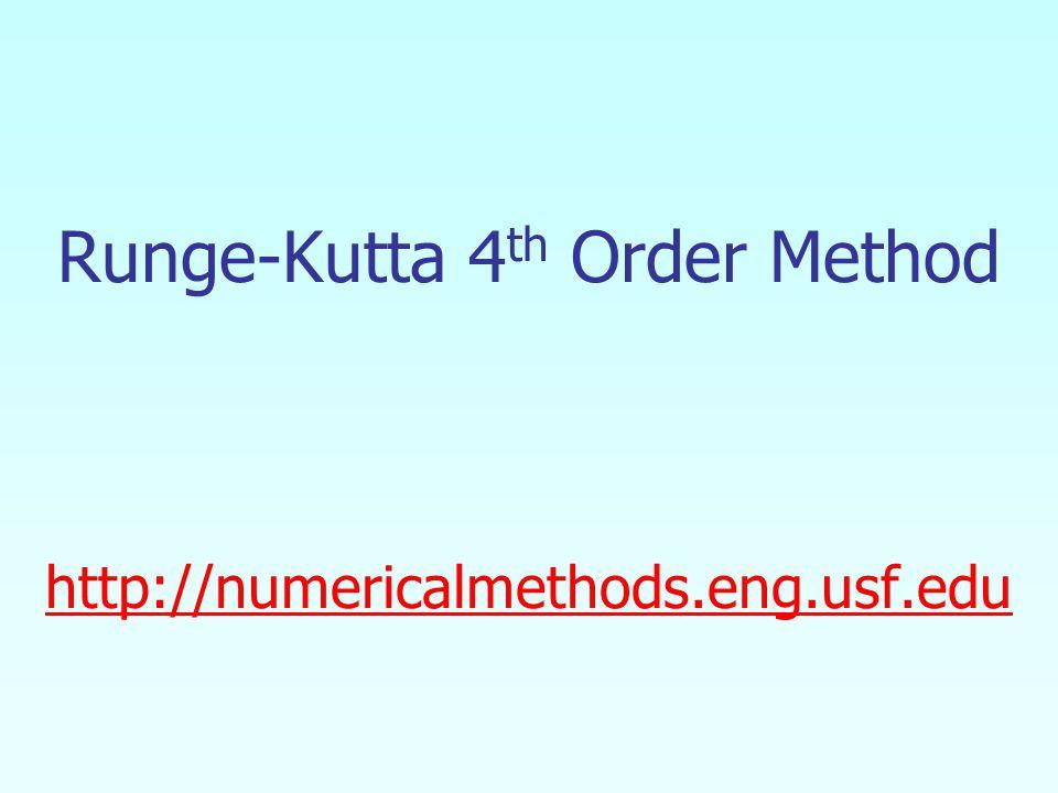 Runge-Kutta 4 th Order Method http://numericalmethods.eng.usf.edu http://numericalmethods.eng.usf.edu