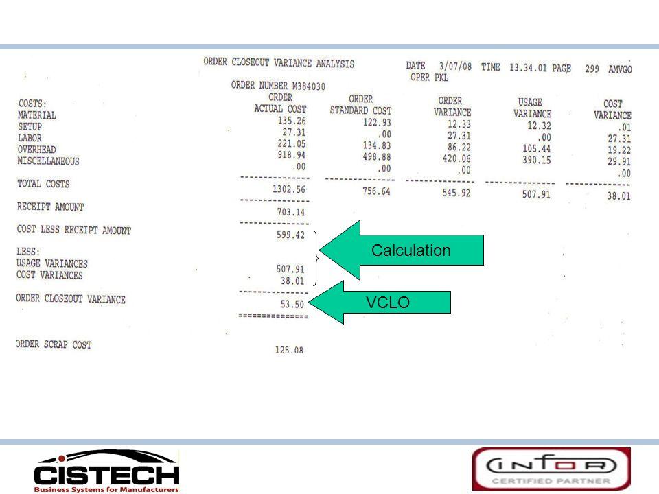 Calculation VCLO