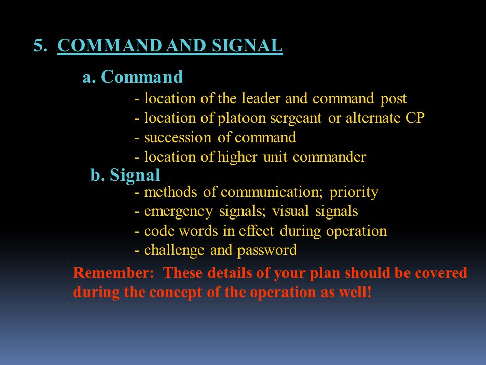 5.COMMAND AND SIGNAL a. Command b.