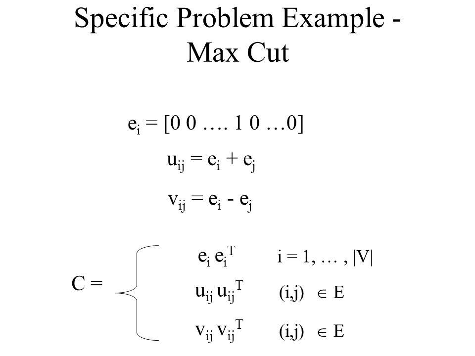 Specific Problem Example - Max Cut e i = [0 0 ….
