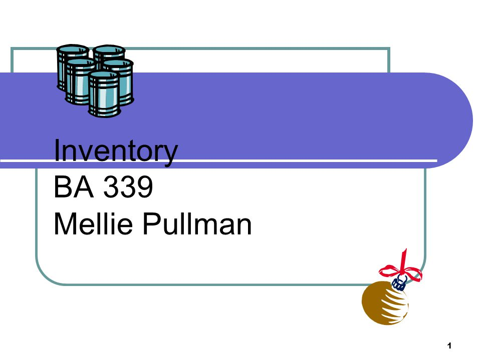 1 Inventory BA 339 Mellie Pullman