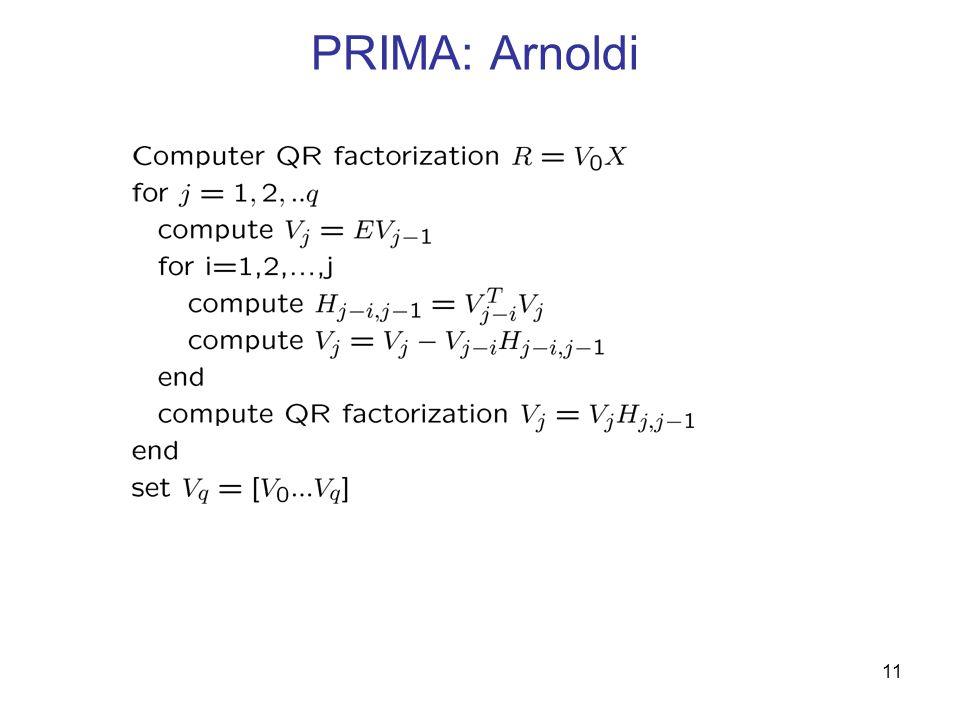 PRIMA: Arnoldi 11