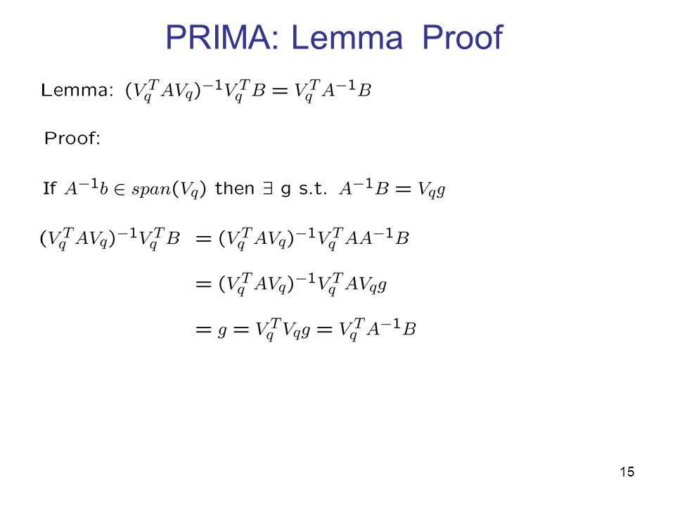 PRIMA: Lemma Proof 15