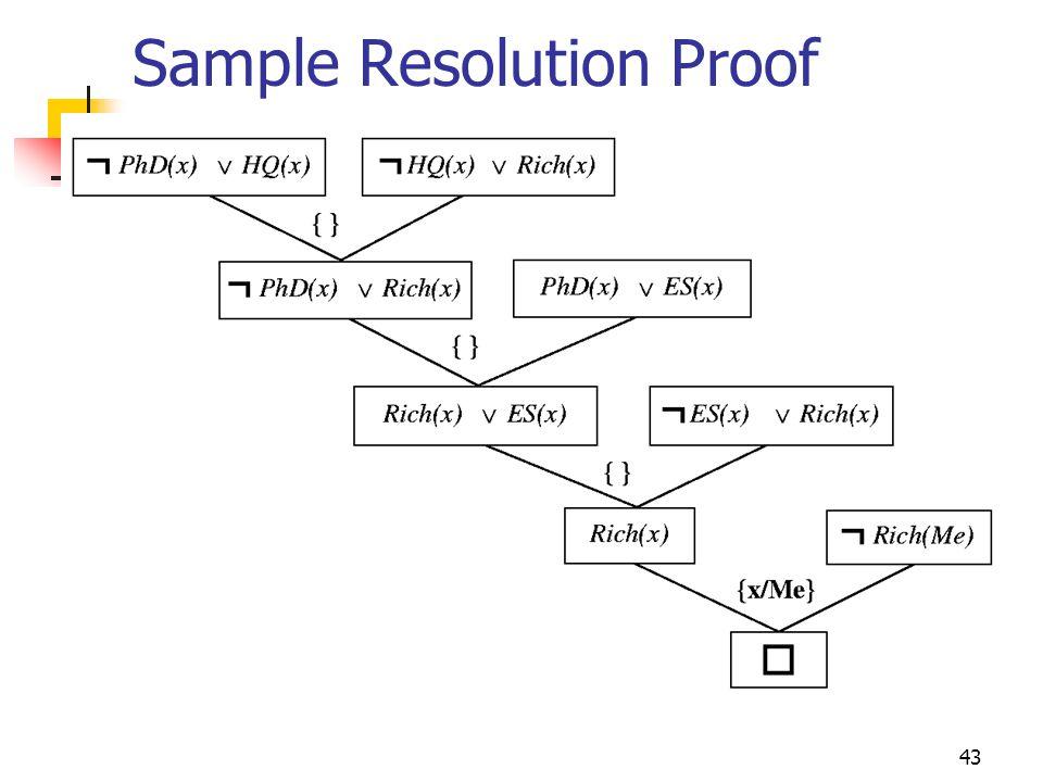 43 Sample Resolution Proof