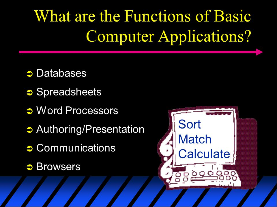 What are the Functions of Basic Computer Applications.