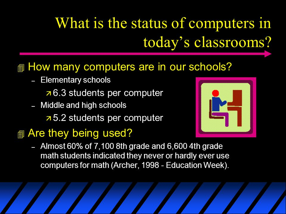 What is the status of computers in todays classrooms.